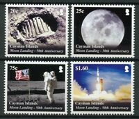 Cayman Islands Space Stamps 2019 MNH Apollo 11 Moon Landing 50th Anniv 4v Set