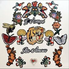 Tiger patch / Tattoo Patch / Flower patch / Embroidered patch /Sew on patch/bee