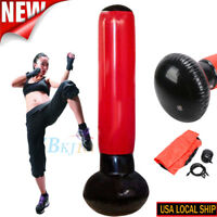 Free Standing Inflatable Punching Bag Heavy Training Boxing Training+Pump US