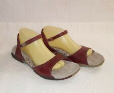 MERRELL Women's Red Leather Sport Sandals Sz 10 M