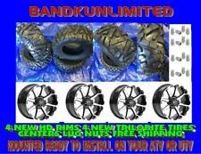 """POLARIS 1000 NEW TIRE KIT 27"""" HD TRILOBITE ON HD6 14 INCH RIMS WITH LUG NUTS"""