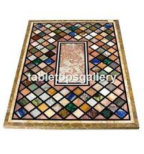 4'x2' Semi Precious Mosaic Cubes Inlay Marble Dining Table Top Living Decor B068