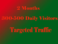 Targeted Website Traffic for 60 days $ 6.50