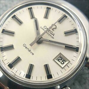 Omega Chronostop Geneve Cal.920 SS 1446.010 17 Jewels Men's Watch Shipped from