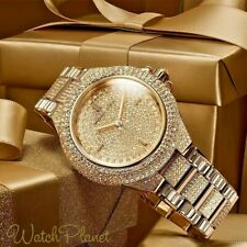 MICHAEL KORS Ladies MK5720 Camille Crystal Gold Pave Dial St Steel Watch