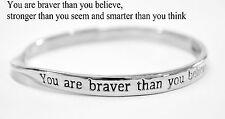 Sterlina Milano Sentimental Meaningful Message Bangle Bracelet Gift Silver