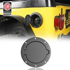Textured Aluminium ABS Gas Fuel Tank Cap Cover Trim for Jeep Wrangler TJ 97-06