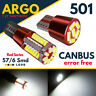 T10 Car Bulbs Led  57 6 Smd Xenon White W5w 501 Side Light Error Free Canbus 12v