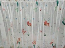 Little Girls Room Mermaid Ariel Curtains 3.6m Long Disney