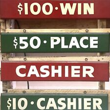 Rare Vintage Horse Race Track Betting Window Used Churchill Downs Signs Set of 4