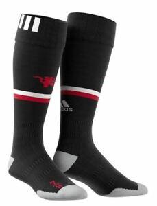 adidas Manchester United Home Socks MAN Utd 2017 2018 Kids Junior Black T373