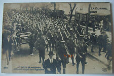 FRANCE 1914 - 1918  - CARTE POSTALE CONVOI DE PRISONNIERS ALLEMANDS