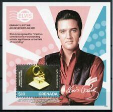 Grenada 2015 MNH Elvis Presley His Life in Stamps 1v S/S II Grammy Award