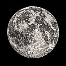 Blood Moon - Full Moon 1/4 oz .999 Silver Antiqued Worry, Gift Or Reminder Coin