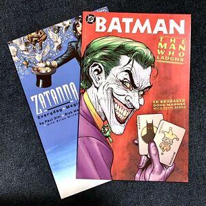 Lot (2) DC 1-SHOTS ZATANNA EVERYDAY MAGIC + BATMAN THE MAN WHO LAUGHS 1ST PRINTS