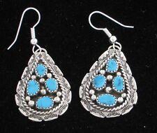 Navajo Indian Earrings 50% Off Turquoise Dangles Sterling Silver Tiffany Jones