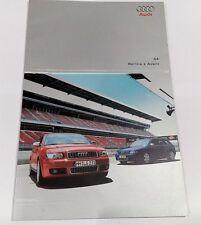 AUDI S4 BERLINA e AVANT DEPLIANT SALES BROCHURE 2003 opuscolo A4