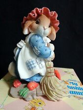 My Blushing Bunnies Swept Up in The Blessings of Fall 277851 Enesco 1997 Hillman