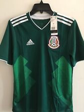 Adidas México Home Green White Soccer Jersey Russia 2018 Size YXL Boy's Only