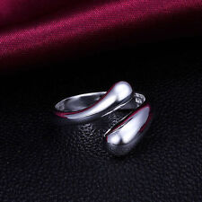 Women Fashion 925 Sterling Silver Plated Adjustable Water Drop Ring Thumb Finger