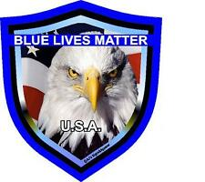 Blue Lives Matter Shield vinyl car laptop or window sticker decal