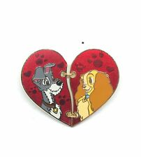 Disney Parks Lady and the Tramp Broken Heart 2 Half Collector Pin