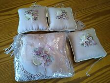 Wedding Ring Bearer Carrier or Cushioned Pillows Mauve Floral