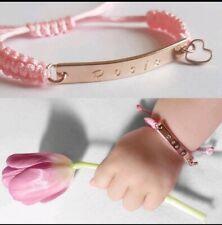 Baby name bracelet, Flower Girl Bracelet, Handstamped Bracelet,