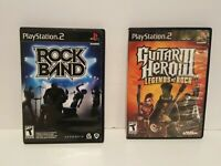 Lot of 2 Playstation 2 PS2 Games Guitar Hero  legensds of rock and Rockband