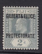 GILBERT AND ELLICE ISLANDS - EVII - 2d grey - mounted mint- Sg3