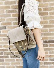 Chloe Faye Small Beige Backpack Shoulder Bag Leather Suede