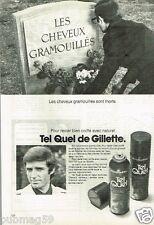 Publicité advertising 1973 La laque Tel Quel de Gillette pour cheveux