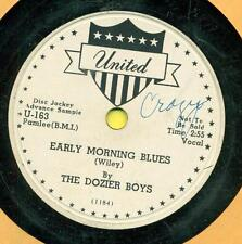DOZIER BOYS Early Morning Blues b/w Cold Cold Rain PROMO