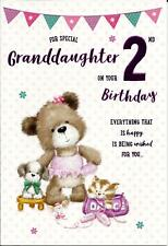 Amazing  For A Special Grandaughter On Your 2nd Birthday Greeting Card