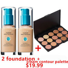 TWO Covergirl Outlast  3 in 1 Foundation 805 IVORY + Cream Contour Palette 15P2