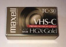 maxell vhs-c hgx-gold