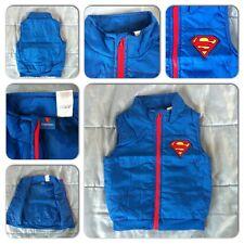 Genuine Licenced Boys Childrens Kids Superhero Superman Gilet Gillet Bodywarmer