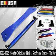 92-95 Honda Civic 93-97 del Sol 94-01 IntegraRear Lower Tie Bar + Subframe Bar