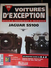 FASCICULE 99 VOITURE EXCEPTION JAGUAR SS100 HEAD PONTIAC FIERO  PORSCHE 356