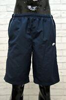 Costume NIKE Uomo Taglia L Mare Piscina Pantaloncino Shorts Rete Blu Kostüm