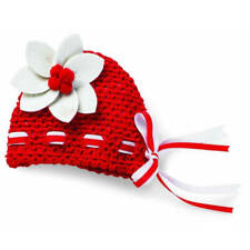 Mud Pie Holiday Poinsettia Crochet Hat Red - DISCONTINUED