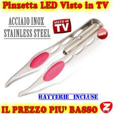 Acciaio Pinzette e Sopracciglia Inox in Luce LED Nuove Idea Regalo Makeup Donnas