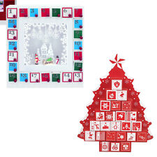Wooden Advent Calendar with Drawers - Gift Christmas Tree by Global Gizmos