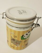 Vintage Dog Treat Cookie Jar with Sealed Lid to Keep Treats Fresh