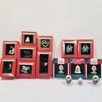 Lot of 12 Hallmark Keepsake Miniature Ornaments Mixed Christmas Tree Xmas