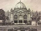 Exposition Universelle Paris 1889 façade palais des Beaux-Arts estampe