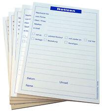 6 x Notizblock DIN A5  - Blocks Notizen - Telefonnotiz - á 50 Blatt (22201)