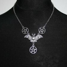 Bats Pentagram necklace, Gothic