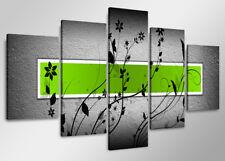 Images sur toile sur cadre 160 x 80 cm abstrait vert pret a accrocher 5509