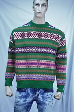 United Colors of Benetton  Men's crew neck wool sweater Made in Italy US L